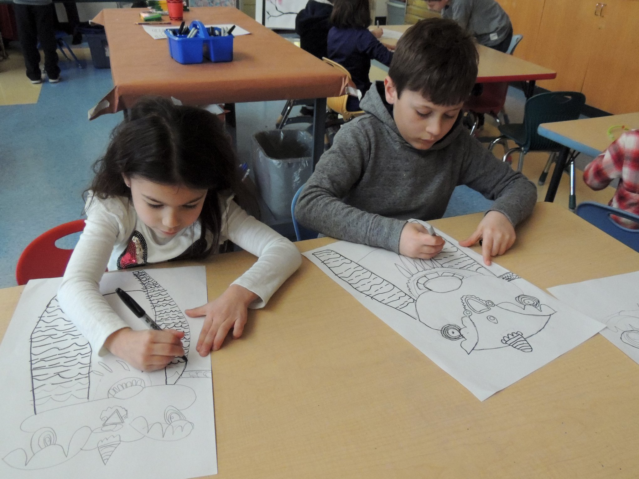 GH Students Create Dragons for Chinese New Year