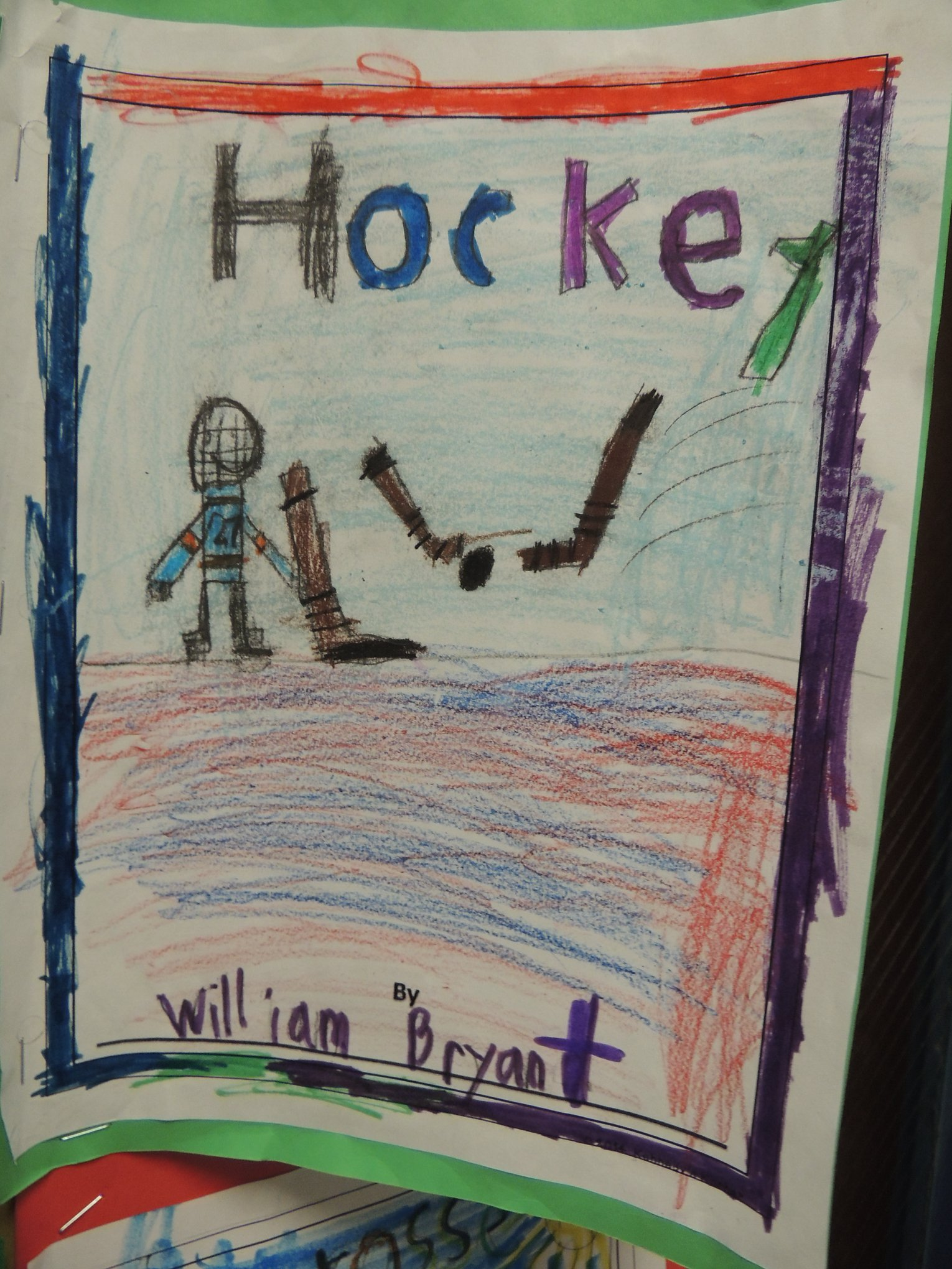 Informational Book Entitled Hockey