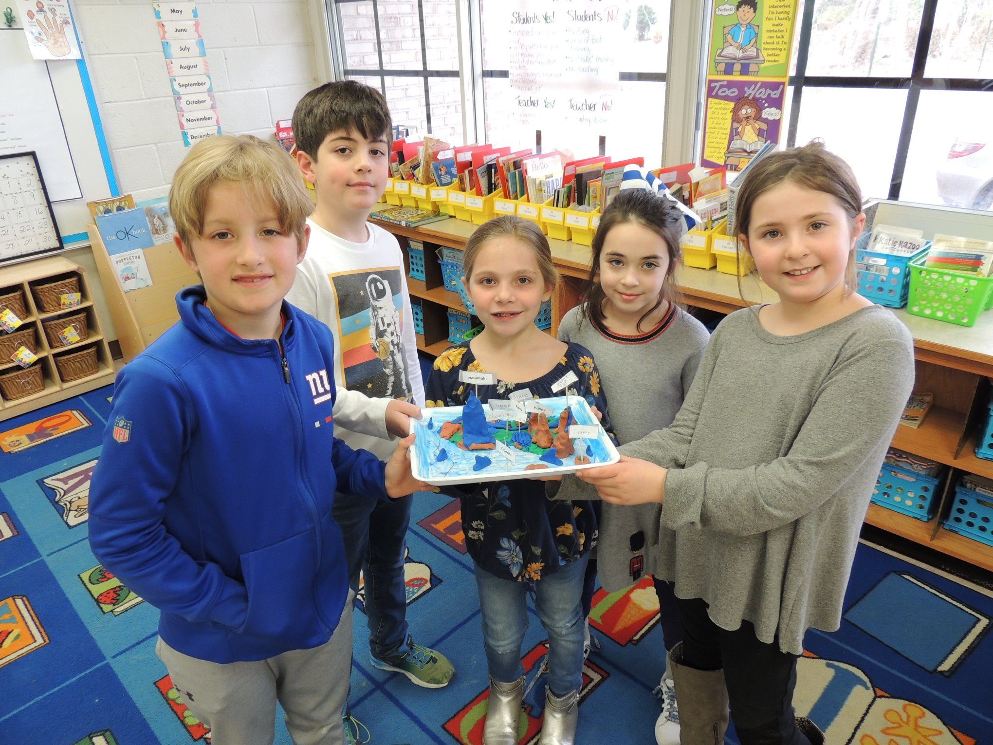 LH 2nd Graders Show Landform Project