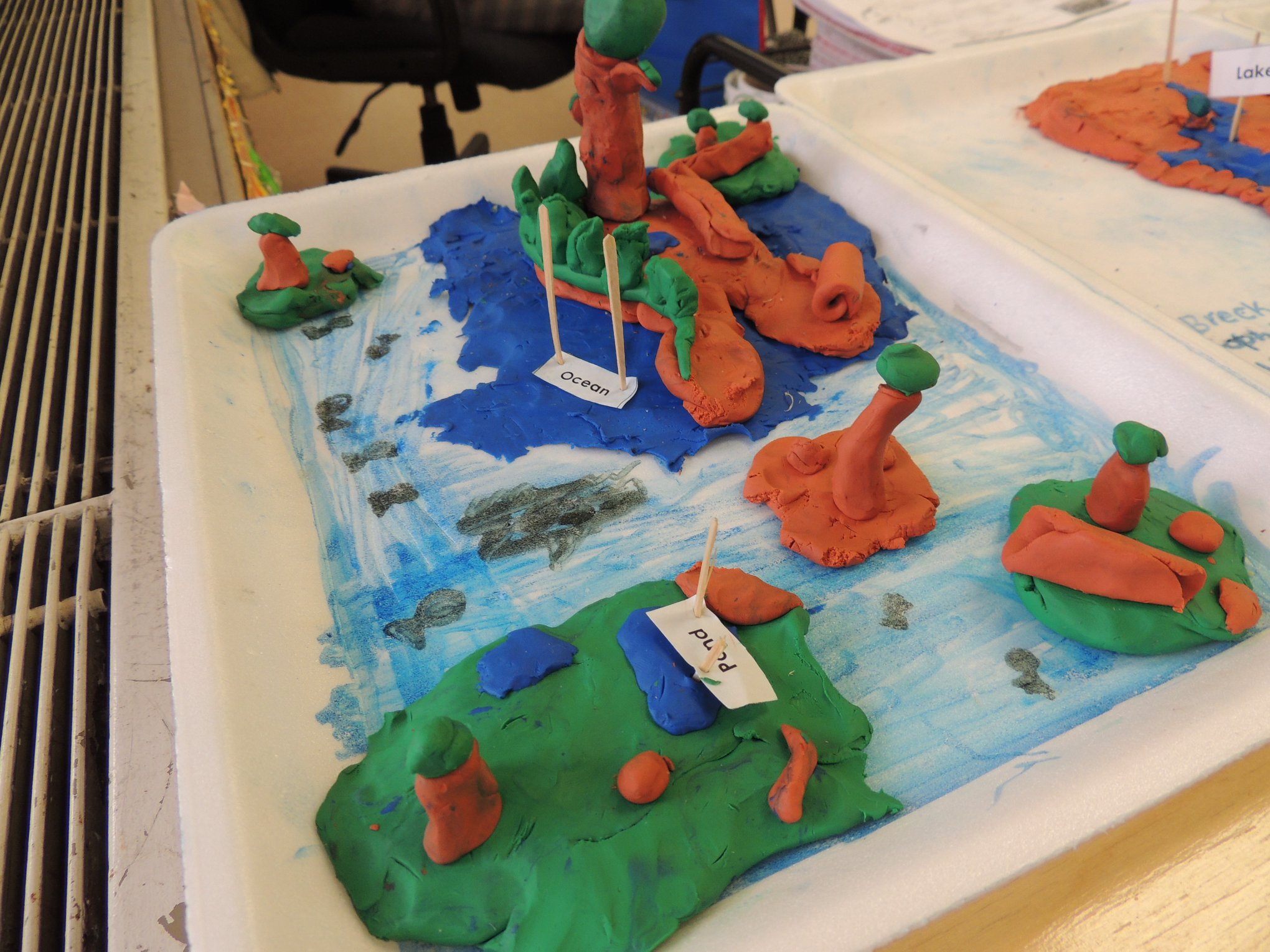 LH 2nd Graders Display Landform Projects