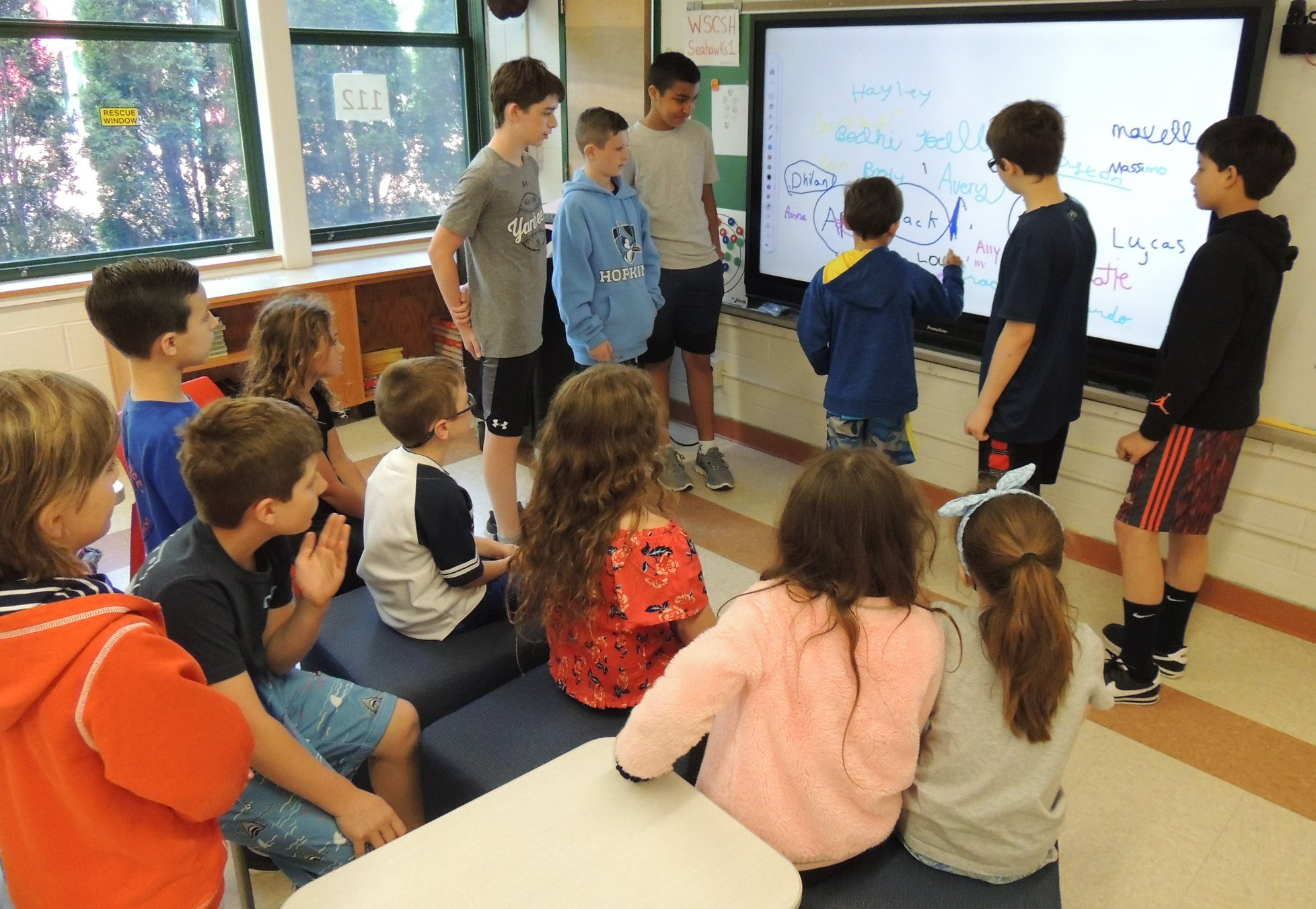 WS Sixth Graders Teach Promethean to Second Graders