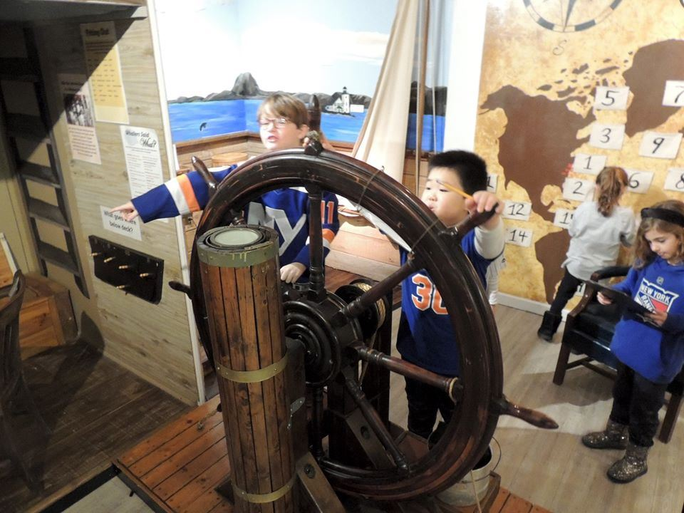 West Side second graders visit the Whaling Museum in Cold Spring Harbor.