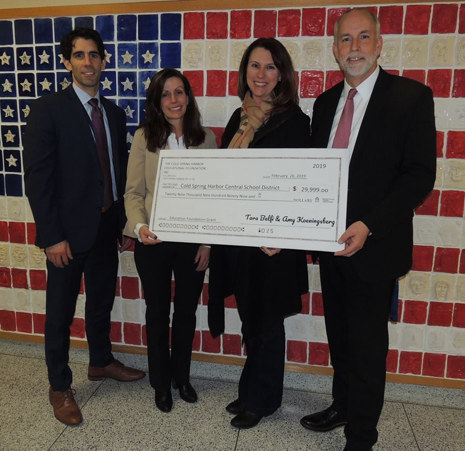 Donations: Cold Spring Harbor Educational Foundation  for Goosehill STEAM Lab.